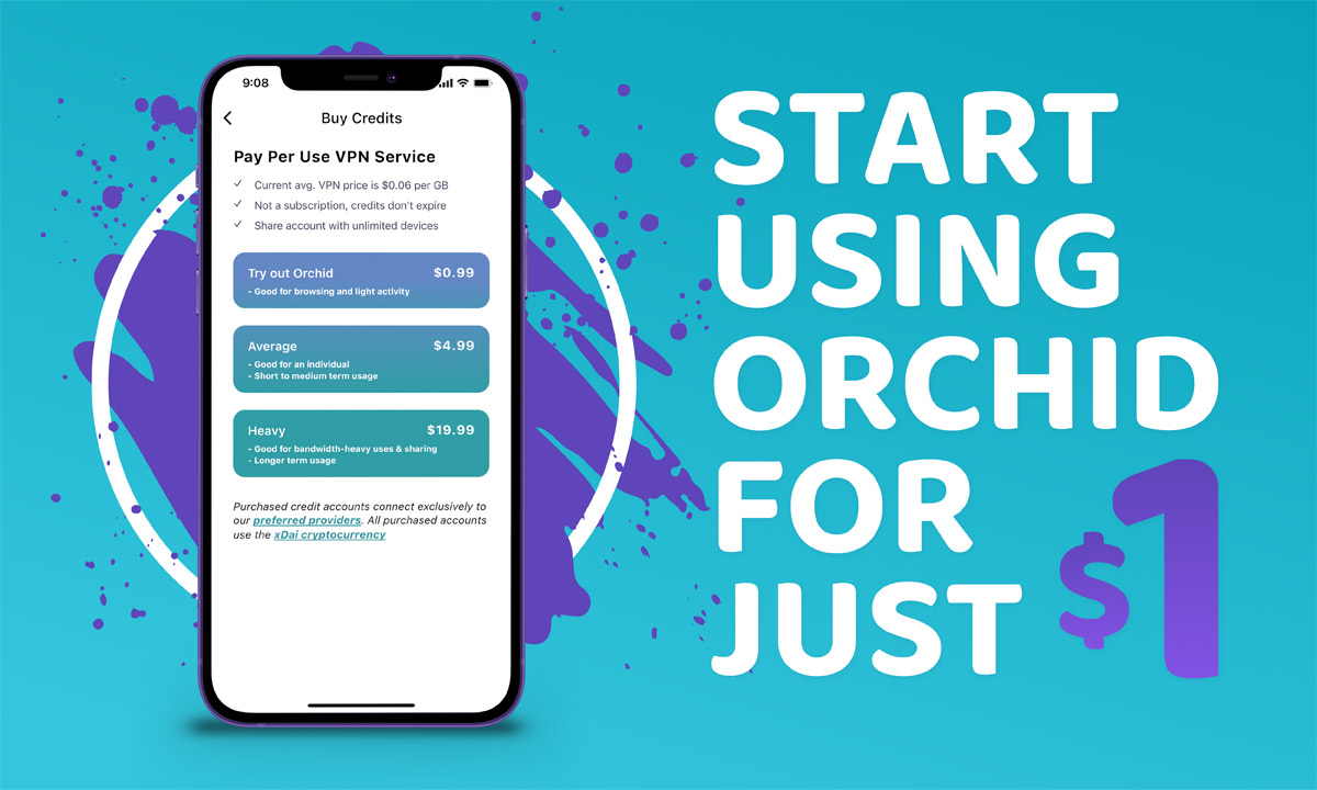 Starting today, it only costs $1 to get started with Orchid